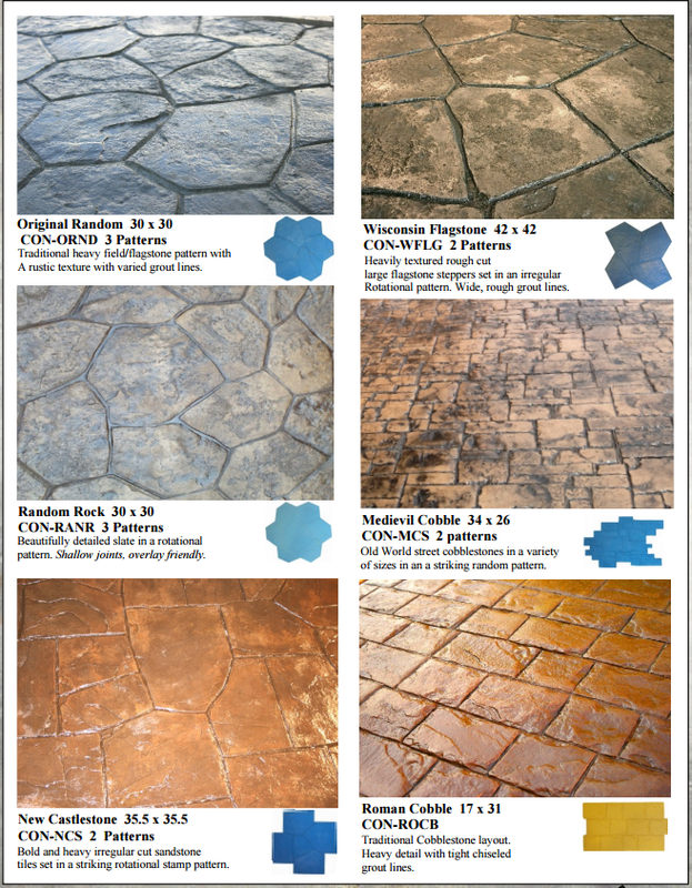 Picture stamped concrete in many different patterns.