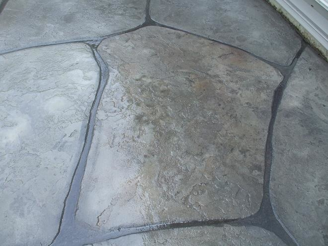 Close up picture of stamped patio