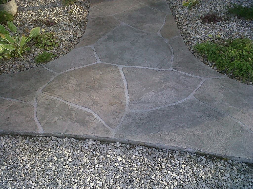 Picture of stamped concrete sidewalk